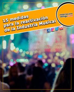 15 medidas para la reactivación de la Industria Musical