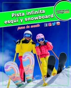 Pista infinita de esquí y snowboard